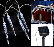 LED Solar-Lichterkette 20 Eiszapfen au�Ÿen Lichtschlauch Weihnachten Lichterkette