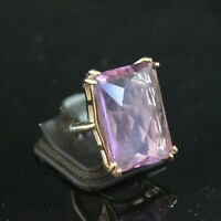 925 Sterling Silver Handmade Gemstone Turkish Amethyst Ring Size 7-10
