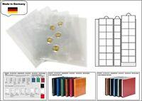 10 LOOK 1-7393-5 Münzhüllen Münzblätter PREMIUM 35 Fächer Für Münzen bis 28 mm