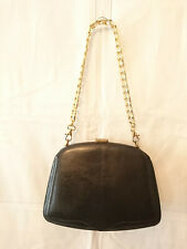 "Handbag worn shoulder ""Leather Lizard Black"" Years 1950/ Modified 1980"