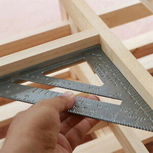 7inch Carpenters Roofing Rafters Joiners Aluminium Angle Square Triangle Ruler