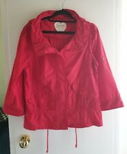 Size 14 Red Lightweight Hooded cotton Jacket