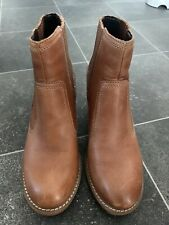 M&S Indigo Leather Boots Size 5
