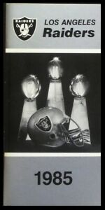 1985 Los Angeles Raiders Media Guide - 152 Pages EXCELLENT Condition