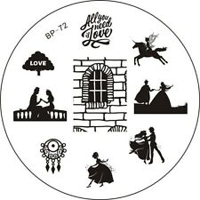 BP 72 Love Theme DIY Nail Art Manicure Stamping Template Image Plate