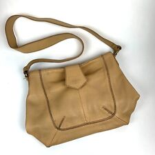 ENZO Angiolini Women's Shoulder Purse Tan Genuine Leather Vintage look Casual