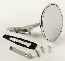 Chevy Chrome Round BOWTIE Rear View SMOOTH Base Door Side Mirror & Hardware