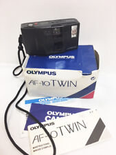 OLYMPUS AF-10 TWIN 35mm Film Camera with Box and Manuals