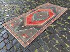 Carpet, Turkish rug, Vintage rug, Handmade rug, Runner, Wool | 2,8 x 6,3 ft