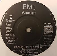 """David Bowie & Mick Jagger Dancing In The Street  7"""" Vinyl Record"""