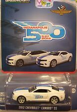 GREENLIGHT 1:64 SCALE DIECAST METAL WHITE 2012 CHEVROLET CAMARO INDY PACE CAR