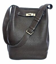 GORGEOUS HERMES SO KELLY 22 IN CHOCOLAT TOGO PHW
