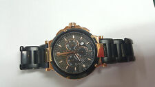 Guess Collection Executive Gc-4  Rose Gold And Black Chronograph PVD Watch