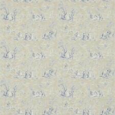 Indigo / grigio talpa - 214065-JOSETTE-Toile-Fabienne - Sanderson Carta Da Parati