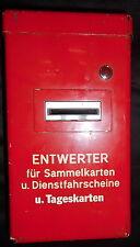 Alter S-Bahn, Straßenbahn, Fahrkarten Sammelkarten Entwerter Automat aus Berlin