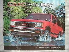 GMC S-15 Jimmy brochure 1984