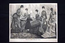 Figurino della moda femminile del mese Incisione del 1876