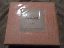 King 4 pc Sheet Set Orange Patterned Bedding Sleep Wrinkle Resistant New!