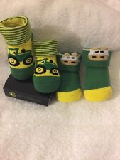 John Deere Baby Boy Infant Booties Socks Green Lots