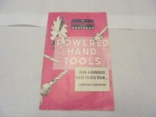 booklet craftsman handbook powered hand tools 1963 100 ways to use them