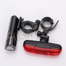 Tail Light Warning Flash light Bike Bicycle 5 LEDs Lamp Head Front Rear Light