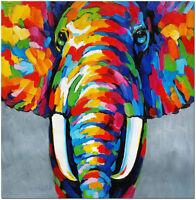Hand Painted Elephant Oil Painting - Modern Impressionist African Safari Art