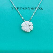 """Tiffany & Co. sterling Silver Crown Of Hearts Pendant Necklace 16"""" With Pouch!"""