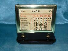 Stunning Period Art Deco Brass & Faceted Glass Desk Calendar c. 1925