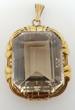 PRE-LOVED JEWELLERY SALE 14ct Yellow Gold Large Smoky Quartz Pendant