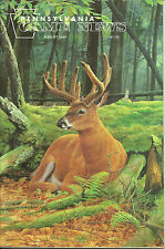 Pennsylvania Game News August 1996 cover by Mark Anderson Whitetail Buck
