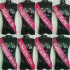 Sparkling Pink Hens Night Wedding Bride Bridesmaid Maid of Honour Satin Sashes