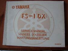 YAMAHA FS 1 istruzioni di manutenzione di 1977 service manual