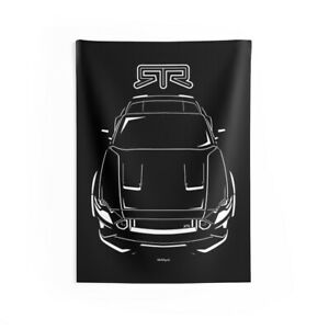Ford Mustang RTR Spec 5 2018-2020 - Wall Tapestry - Drift Mustang Wall Decor