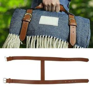 Carrying Strap For Picnic Blanket/Travel Rug/Yoga Leather AU Strap Carry J7G4
