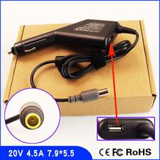 Laptop Car DC Adapter Charger & USB for IBM Lenovo Thinkpad /UltraBase 43R8781