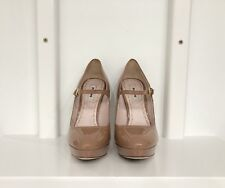 Miu Miu Mary Jane Patent Leather Platforms Size 36