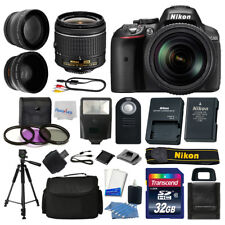 Nikon D5300 Digital SLR Camera Body 3 Lens Kit 18-55mm Lens + 32GB Top Value