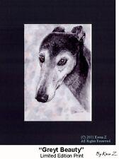 Greyhound Senior A Greyt Beauty Signed Art Print NEW Artist Kevin Z Arttogo