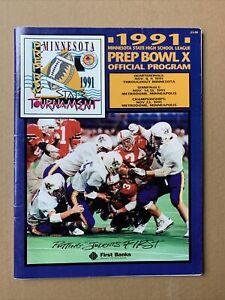 1991 Minnesota High School Football Prep Bowl Program - Burnsville AA Champs