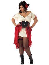 Cantina Gal Saloon Girl Can Can Senorita Spanish Mexican Womens Costume Plus