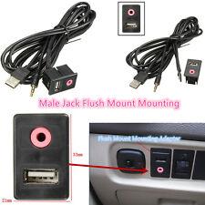 Voiture 3,5 USB prise USB casque Jack mâle adaptateur panneau entrée auxiliaire avec 1,5 M