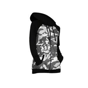 Kids Girls Camo Zip Up Hoodie Long Sleeves Hooded Camouflage Jacket Top Age 3-16