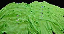 lot of 12 lime t shirts size Xsmall 2 - 4 long sleeve Lat sportswear monogram