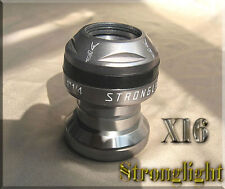 "NOS VTG Stronglight MTB Headset X16 1-1/4"" Threaded Headset Pewter Gray *Rare"