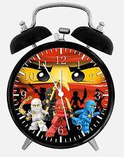 """Lego Ninjago Alarm Schreibtisch Uhr 3.75"""" Heim oder Büro Dekor W459 Nizza für Geschenk"""