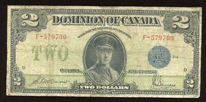 1923 Dominion of Canada $2 - DC-26c. Solid Fine. F-579790/D