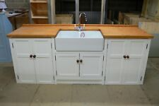 DOUBLE BUTLER SINK/APPLIANCE UNIT,PAINTED IN DIMITY.