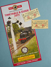 POPPY LINE – NORTH NORFOLK RAILWAY – 2 USED TICKETS & 2011 TIMETABLE