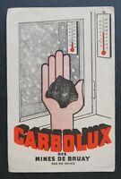 BUVARD CARBOLUX des mines de BRUAY Pas-de-Calais Thermomètre Blotter
