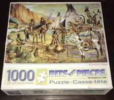 Bits and Pieces 1000 Piece Jigsaw Puzzle Peaceful Village Indian Ruane Manning
